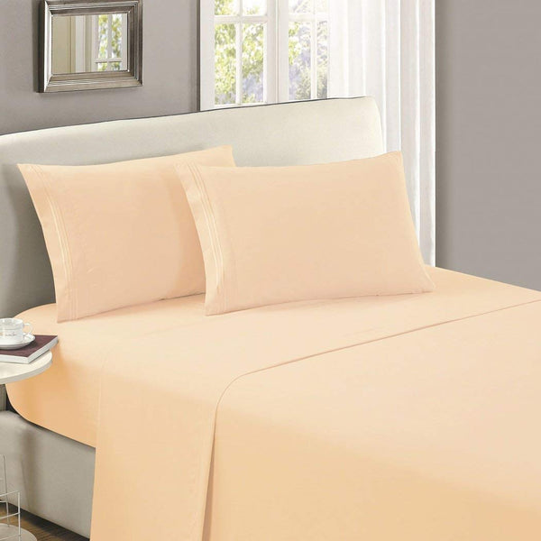 1800 Collection Microfiber Flat Sheet (Light Colors)