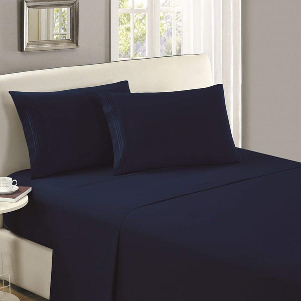 1800 Collection Microfiber Flat Sheet (Dark Colors)