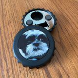 Set of 2 Magnetic Bottle Openers/Photo Bottle Cap Magnet/Personalized Photo Gift