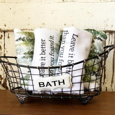 Leave it Better Than You Found It - Forest Themed Bathroom Hand Towel
