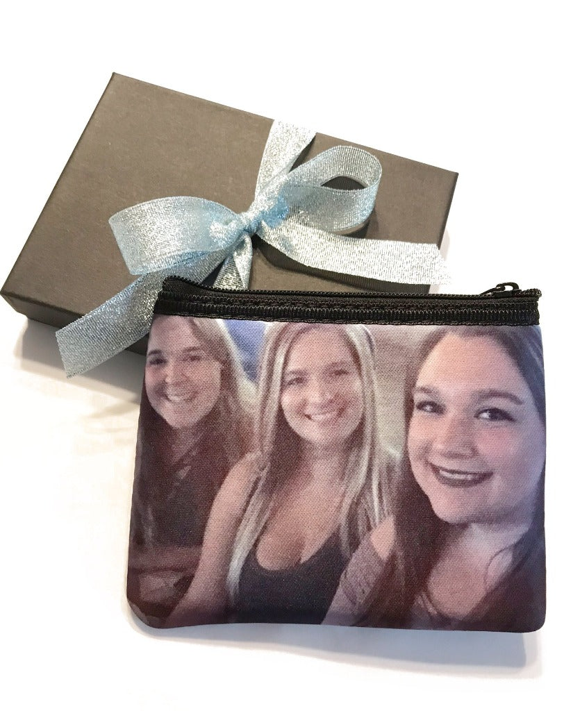 Photo Coin Purse Personalized Zipper Pouch Printed Coin Pouch