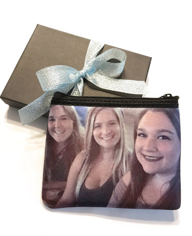 Girlfriends Selfie Printed on a custom Coin Purse
