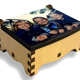 Small Wooden Box with a Photo printed on the lid