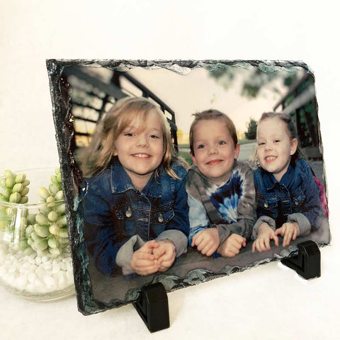 Photo Slate- Plaque Custom 5x7 Chiseled Edge Slate Using Your Photograph