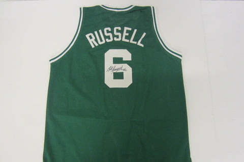 Bill Russell Signed Boston Celtics Jersey (COA) 11x NBA Champion / 12x All Star Center