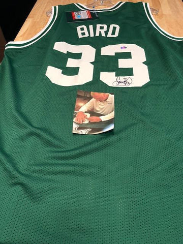 Larry Bird Signed Boston Celtics Jersey (COA) 3x NBA Champion / 3x NBA MVP