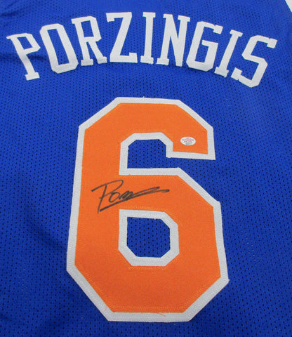 Kristaps Porzingis New York Knicks Signed Jersey / 4th Overall Pick 2015 Draft