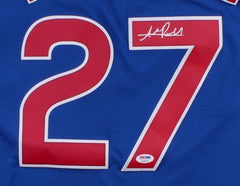 Addison Russell Signed Cubs Jersey (PSA) World Series champion (2016) All Star