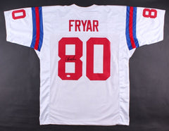 Irving Fryar Signed Patriots Jersey (JSA Hologram) Super Bowl XX Wide Receiver