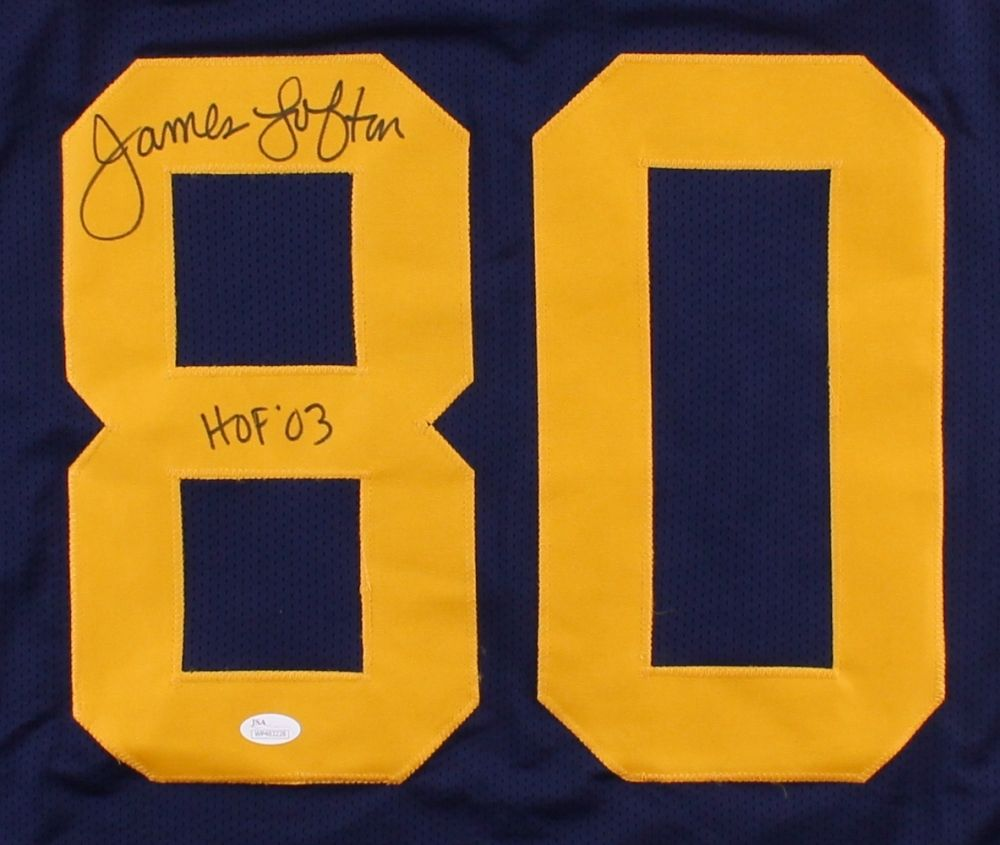 "James Lofton Signed Packers Throwback Jersey Inscribed ""HOF 03"" (JSA)  1978–1986"