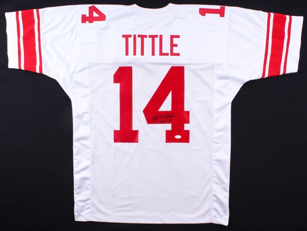 quality design 88aed 10efb Y.A.Tittle Signed New York Giants Jersey Inscribed