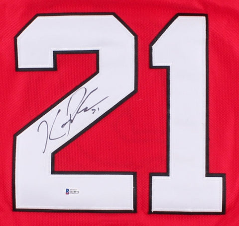 Kyle Palmieri Signed Devils Jersey (Beckett ) 26th Overall pick 2009 NHL Draft