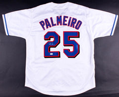 Rafael Palmeiro Signed Texas Rangers Jersey (JSA) 500 Home Run club / 3000 Hits