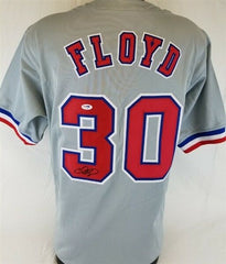 Cliff Floyd Signed Montreal Expos Gray Jersey (PSA COA) 2001 All Star Outfielder