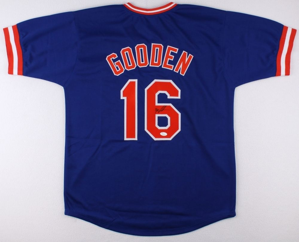 "Dwight ""Doc"" Gooden Signed Mets Jersey (JSA COA) 3x World Series Champion"