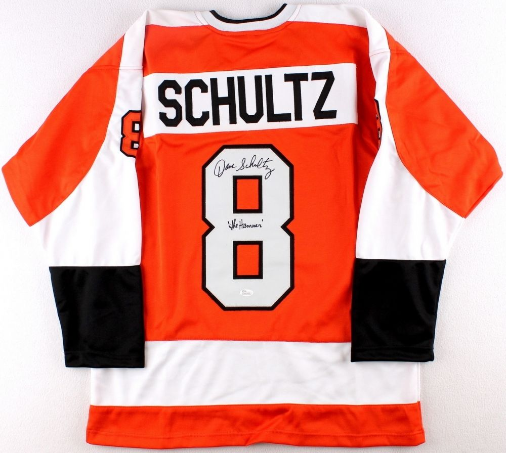 sports shoes 1b523 91ed2 Dave Schultz Signed Philadelphia Flyers Jersey Inscribed