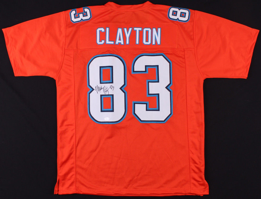 more photos b2bec a3694 Mark Clayton Signed Dolphins Jersey (JSA COA) 5× Pro Bowl  (1984–1986,1988,1991)
