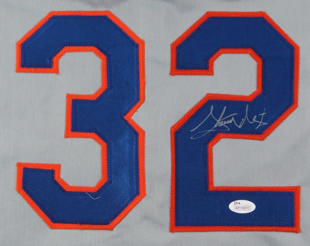 Steven Matz signed New York Mets jersey JSA / NL Rookie of the Month (May 2016)