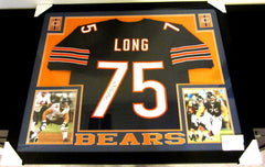 KYLE LONG AUTHENTIC AUTOGRAPHED FRAMED AND MATTED CHICAGO BEARS JERSEY