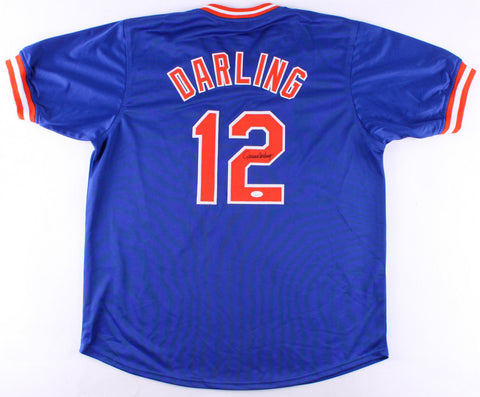 Ron Darling Signed New York Mets Blue Jersey (JSA COA) 1986 World Champions