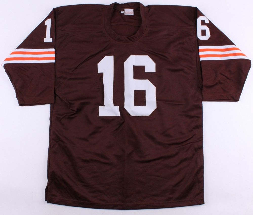 "Milt Plum Signed Browns Jersey Inscribed ""2x Pro Bowl"" (CAS COA) Cleveland Q.B."