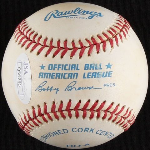 Bert Blyleven Signed OAL Baseball (JSA COA) 2× World Series champion 1979, 1987