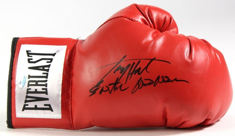 "Larry Holmes Signed Everlast Boxing Glove Inscribed ""Easton Assassin""  Schwartz"