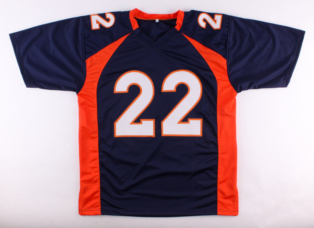 C J. Anderson Signed Broncos Blue Jersey (JSA) Super Bowl champ (50)Running Back