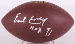 "Earl Campbell Signed NFL Football Inscribed ""HOF 91"" (JSA) Oilers Running Back"