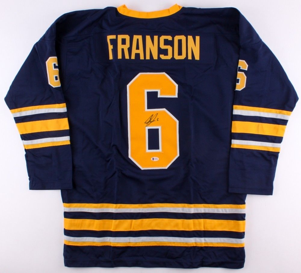 Cody Franson Signed Sabres Jersey (Beckett COA) Playing career 2007–present