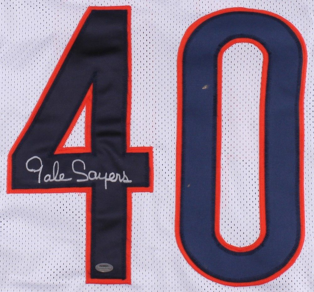 5362d885216 Gale Sayers Signed Chicago Bears Jersey JSA COA 4× Pro Bowl RB (1965 ...