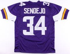 Andrew Sendejo Signed Purple Jersey (TSE COA) Strong Safety