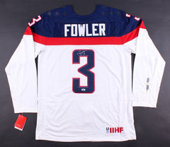 Cam Fowler Signed Team USA Hockey Jersey (Beckett) Ducks All Star Defenseman