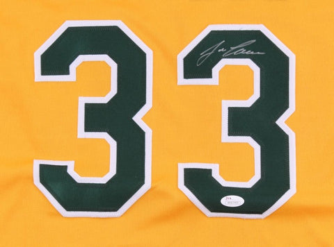 Jose Canseco Signed Athletics Jersey (JSA) 2× World Series champion /1989, 2000
