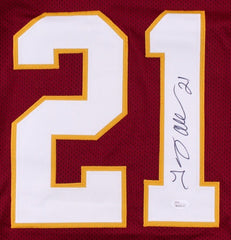 Terry Allen Signed Redskins Jersey (JSA) 8614 Career Rushing Yards 79 Touchdowns