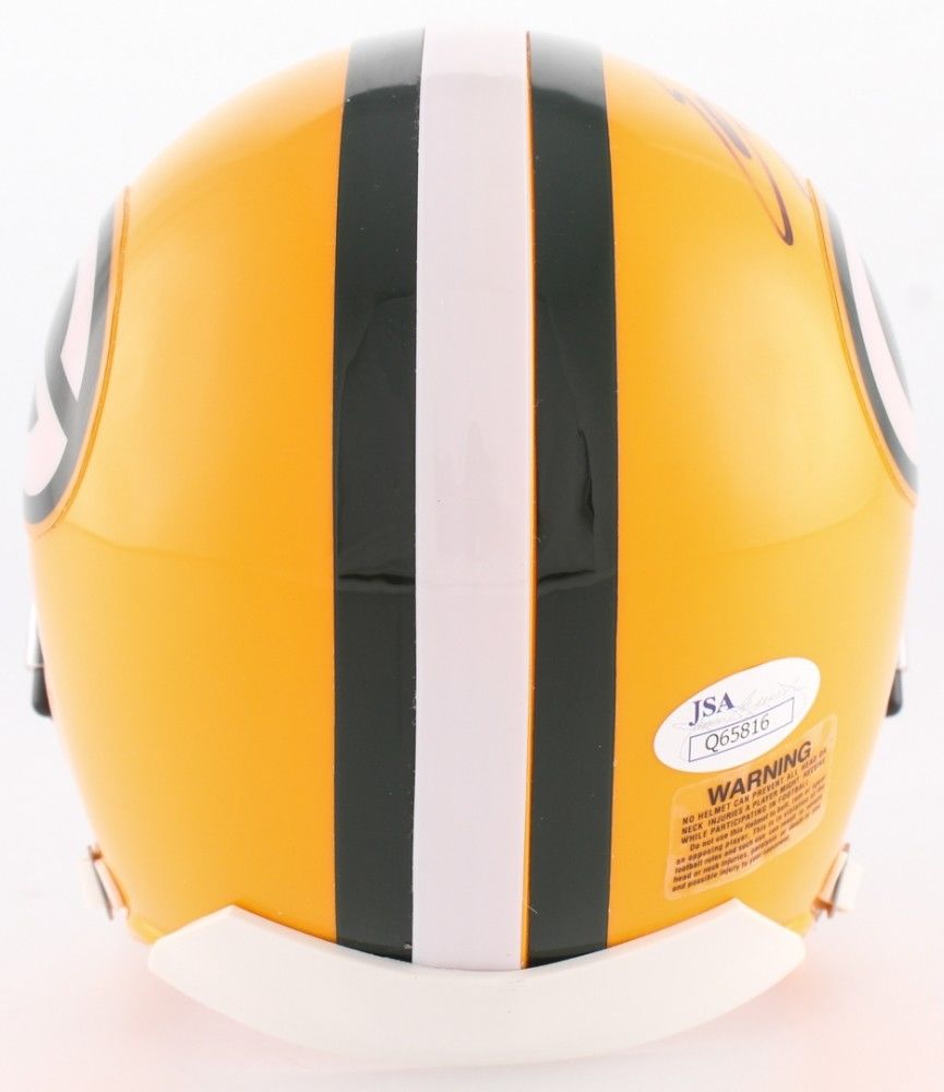Eddie Lacy Signed Packers Mini-Helmet (JSA) NFL Offensive Rookie of th Year 2013