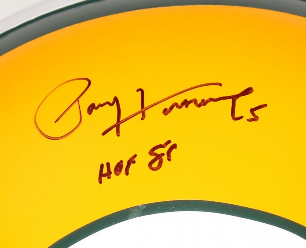 "Paul Hornung Signed Green Bay Packers Full-Size Helmet Inscribed ""HOF 86"" (PSA)"