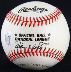 Tommy Holmes Signed ONL Baseball (Autograph Reference COA) 2× All-Star (45 & 48)