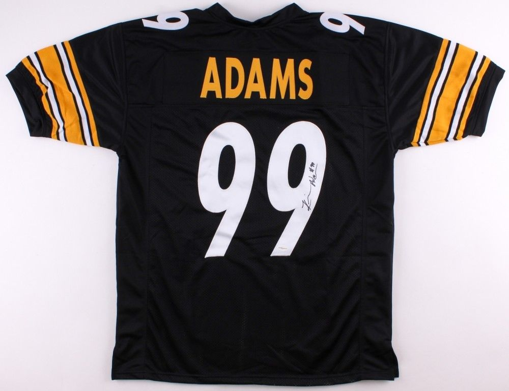 Keion Adams Signed Steelers Jersey (TSE COA) 2017 Rookie Outside Linebacker