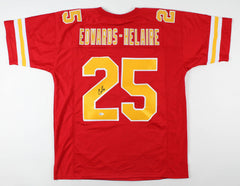 Clyde Edwards-Helaire Signed Kansas City Cheifs Jersey (Beckett Holo) #1 Pk LSU
