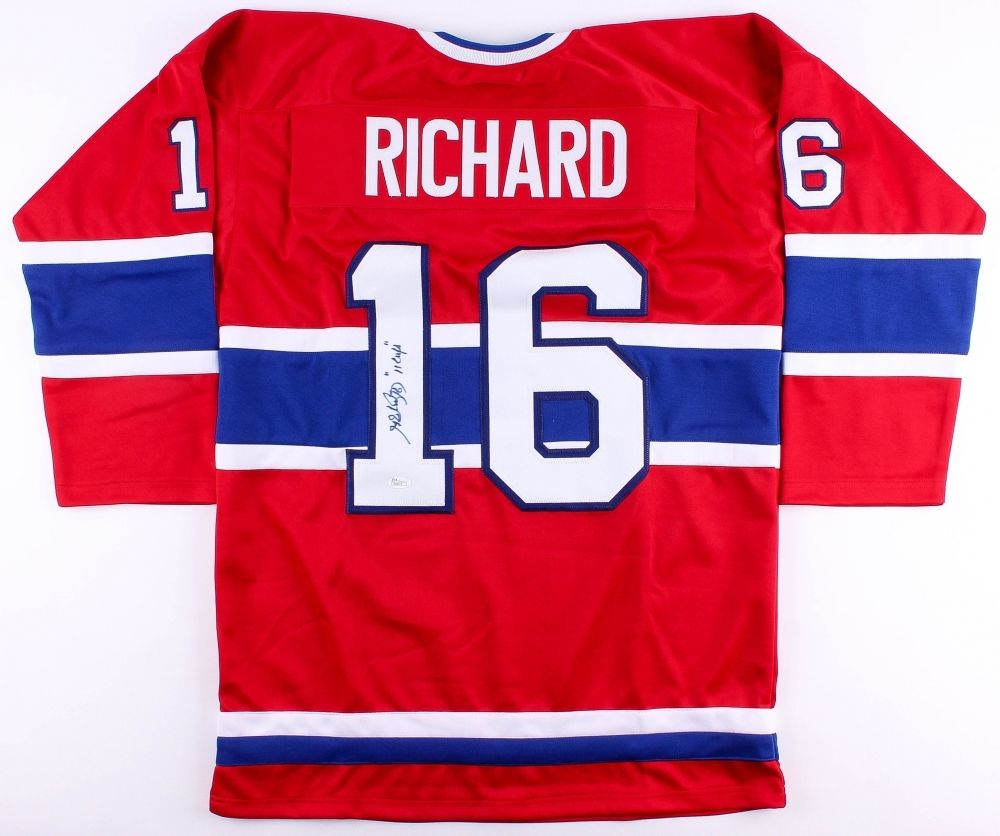 the best attitude 822ae cc624 Henri Richard Signed Montreal Canadiens Jersey Inscribed