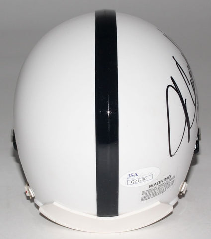 Penn State Nittany Lions mini helmet. Hand-signed and inscribed in Black Pen