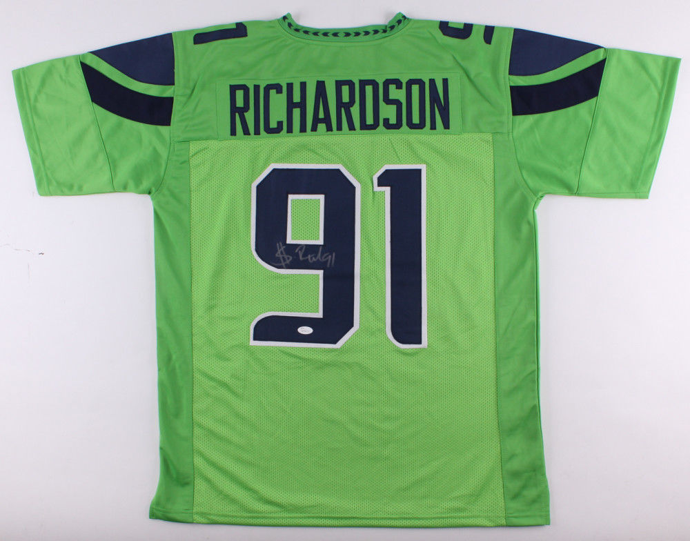Seahawks Jersey Green Black And