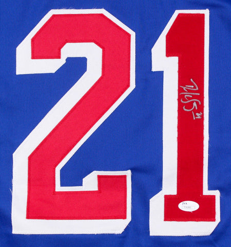 Derek Stepan Signed Rangers Jersey (JSA Hologram) Arizona Coyotes Center
