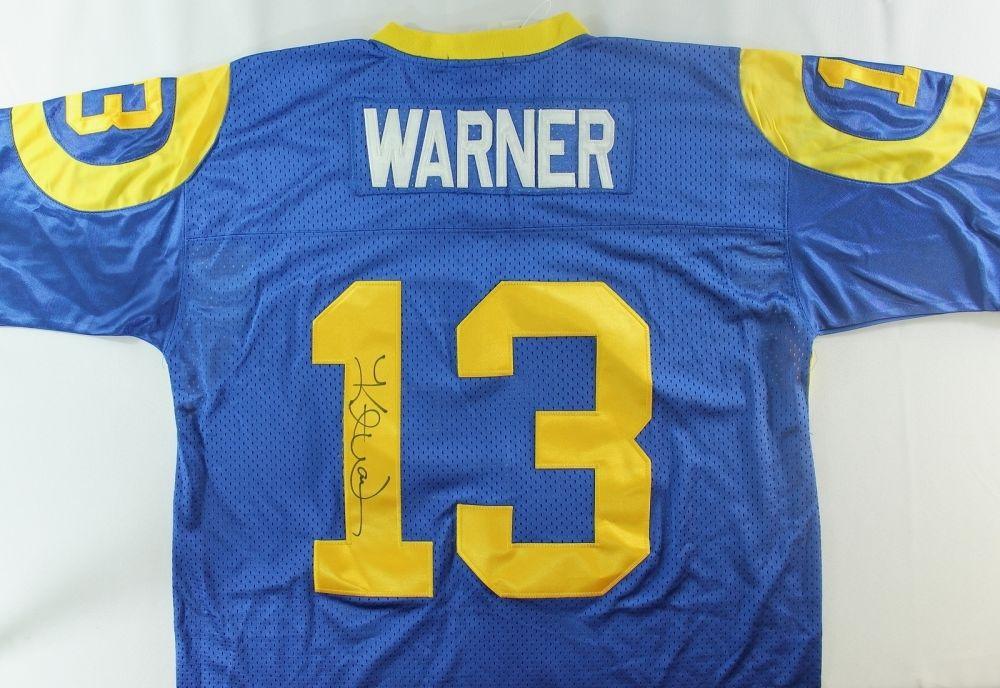 new arrivals 86bfd 7f3af Kurt Warner Signed Rams Jersey (PA LOA)