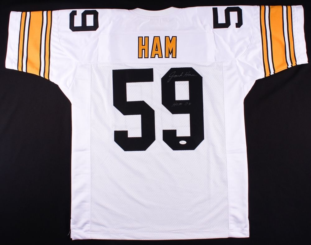 wholesale dealer ba260 d707c Jack Ham Signed Steelers Jersey Inscribed