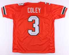 "Stacy Coley Signed Miami Hurricanes Jersey Inscribed ""Go Canes!"" (JSA COA)"