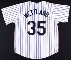 "John Wetteland Signed Yankees Jersey Inscribed ""1996 WS MVP"" (Leaf COA)"