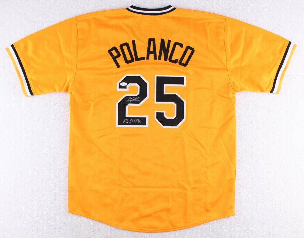 Gregory Polanco Signed Pittsburgh Pirates Yellow Jersey (JSA COA) El Coffee