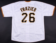 Adam Frazier Signed Pittsburgh Pirates Jersey (TSE Holo) 2nd Year Outfielder
